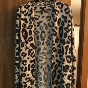 H&M cheetah sweater